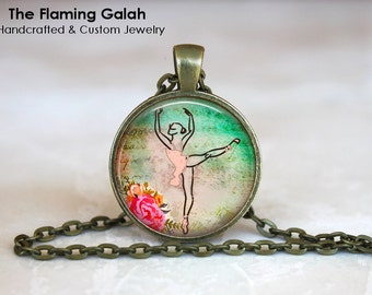 GRACEFUL BALLET DANCER Pendant • Ballerina • Dancer • Dance Teacher • Choreographer • Gift Under 20 • Made in Australia (P0929)