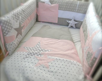 Round bed pink and grey Pearl