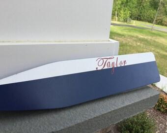 Oar, Wall Decor, White and Navy Oar, Personalized Oar, Monogram Oar, Nautical Decor, Boat Decor