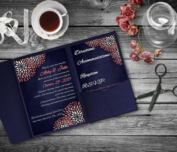 navy and coral wedding invitations coral navy wedding invitation template invitation suite 6112
