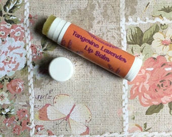 Tangerine lavender lip balm spring lip balm natural lip balm floral lip balm citrus lip balm organic lip balm natural chapstick