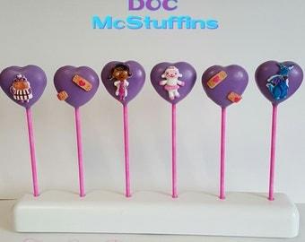 Doc McStuffins Cake Pops