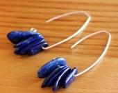 Lovely Lapis Lazuli Leaves on Silver