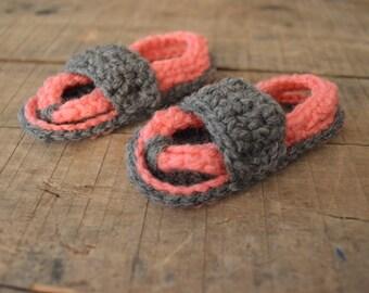 Crocheted Baby Flip Flops