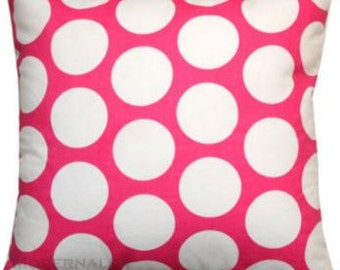 Chunky Pink Polka Dot Down Feather Pillow