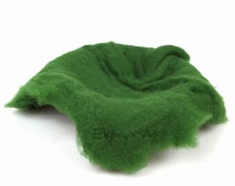 Wool cloud, GREEN, filling the baskets, newborn photo prop, woolen fluff