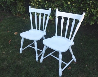 Matching Chairs, Two Off White Chairs