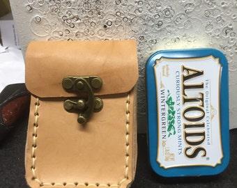 Leather Altoids tin case