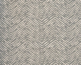 Rustic Tribal Thatch Pewter Grey Fabric By The Yard Designer Cotton Drapery  Curtain Fabric Upholstery Fabric