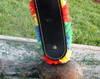 Vintage Authentic Swiss Cowbell Rustic Bell Strap