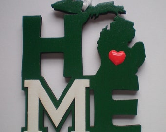 Michigan MSU HOME Christmas Ornament