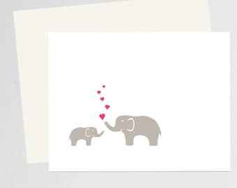 Greeting Card Baby Shower- elephant love