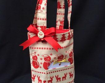 Handmade christmas reusable gift bag