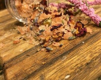 Lavender Rose Salt Scrub