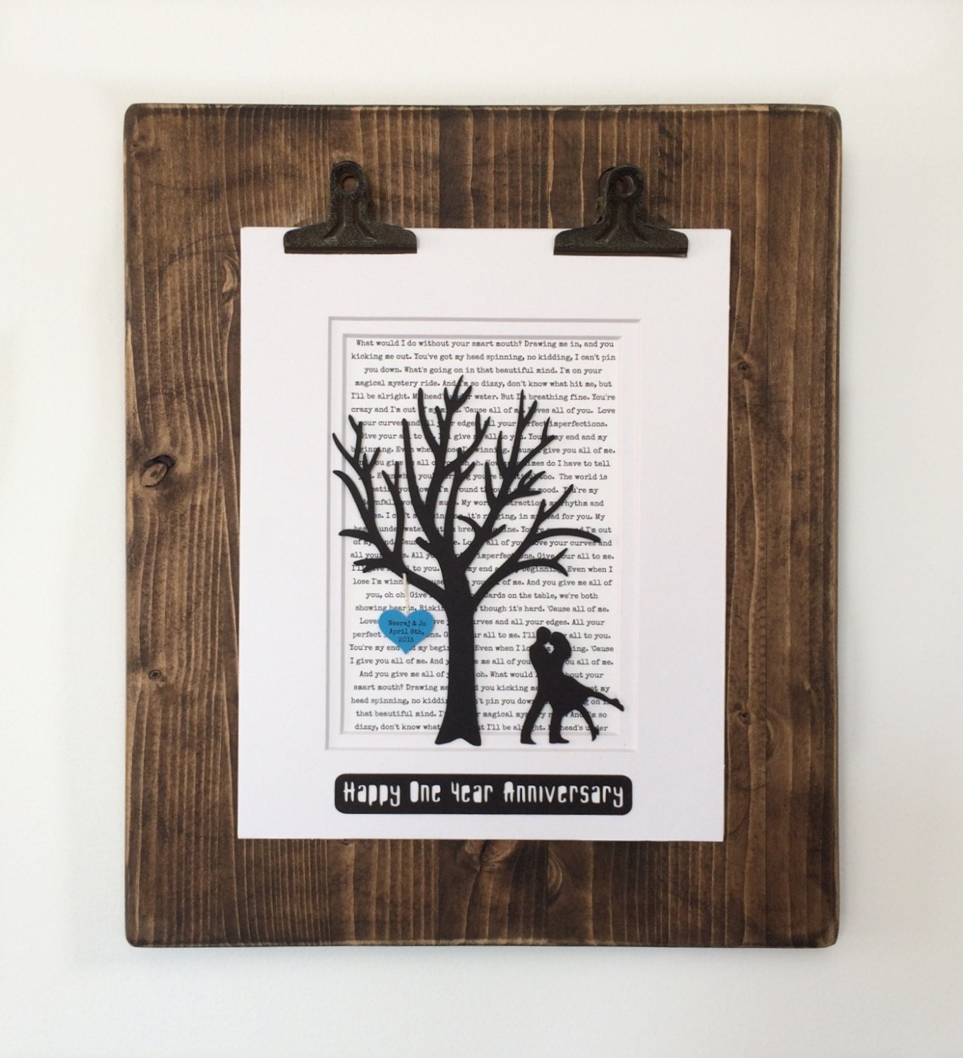 Unique First Wedding Anniversary Gifts: Personalized First Year Anniversary Gift Tree Wedding Or