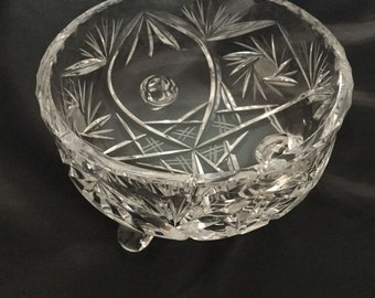 Pretty glass sugar bowl