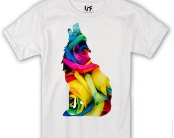 Bright Wolf Design T-Shirt (SB746)