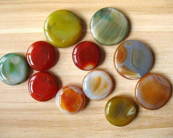 On sale!!! Large Natural Round Agate Loose Stone Circle Agate Slice High Quality Wholesale A149