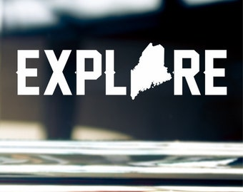 Explore Maine Sticker Decal For Car Window, Bumper, Or Laptop