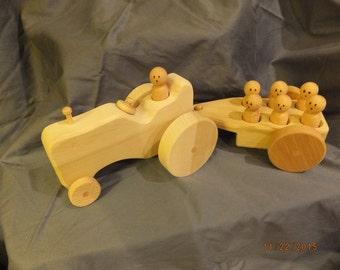 Wooden Tractor Hayride