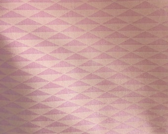 Pink Geometric Fabric vintage cotton quilting pillows summer dress