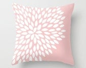 Pastel Pink Pillow Cover, c Pillow Cover, Dahlia Pillow Cover, Baby Pink Pillow Cover, Flower Pillow Cover, Pastel Pink Nursery