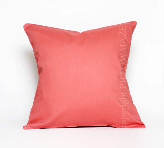 Items Similar To Coral Pillow, Coral Pillow Cover, Coral
