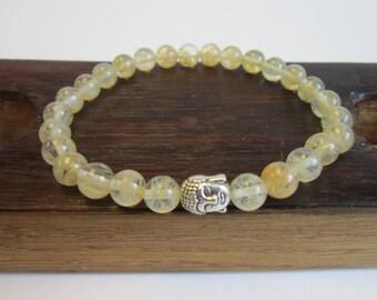 Natural Citrine Bracelet, Men Solar Plexus Sacral Chakra Bracelet, Men Healing Citrine Abundance Bracelet Men Citrine Bracelet Citrine Mala