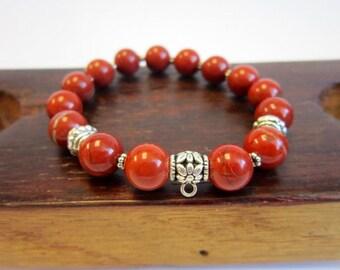 Sacral Chakra Gemstone Bracelet, Second Chakra Bracelets Sacral Chakra Meditation Yoga Healing Bracelet Svadhisthana Chakra Charm Bracelet