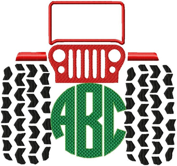 Machine embroidery design jeep comes in by blingsasssparkle