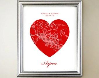 Aspen Heart Map