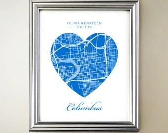 Columbus Heart Map