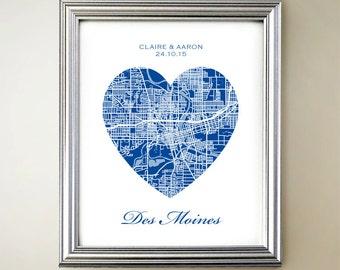 Des Moines Heart Map