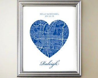 Raleigh Heart Map