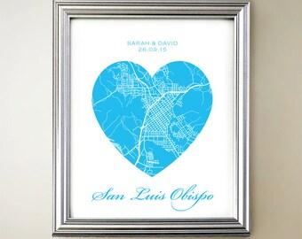 San Luis Obispo Heart Map