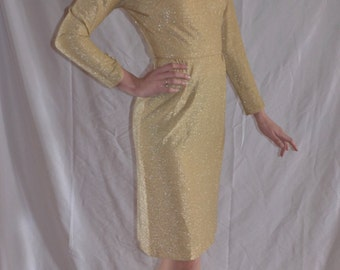 ON SALE!!! Gold Lurex Dress Sparkle Bombshell Dress! VLV!
