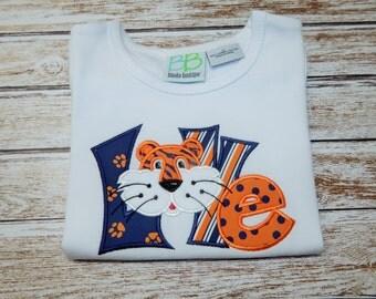 Girls Auburn football shirt; Girls Auburn Tiger shirt;  AU Football Shirt; Auburn Tiger game day shirt; Ask about other teams