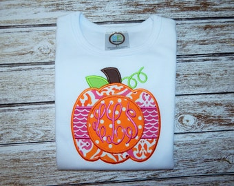 PUMPKIN Shirt for Fall; Girl's Fall Shirt; Girl's Pumpkin shirt; Thanksgiving shirt;  Fall shirt; Girl's shirt;