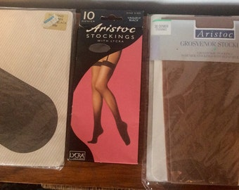 3 Pairs of Vintage Stockings, Aristoc, good quality in packaging retro stockings