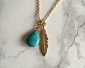 Charm Necklace with Gold Chain