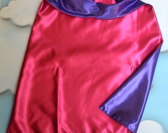 Cape. Plain Cape. Reversible Cape. Pink and Purple Cape. Kids Cape. Quick Ship Cape.