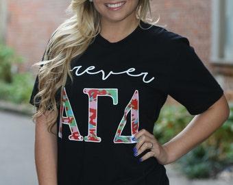 alpha gamma delta american apparel short and long sleeve t shirt forever agd alpha gamma delta letter shirt