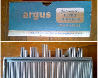 1960s Argus Automatic Slide Changer Magazine and European Vacation Slides