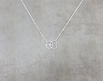 Peace Love Silver Plated Necklace in Gift Box World Happiness Yoga Hippy Hippie