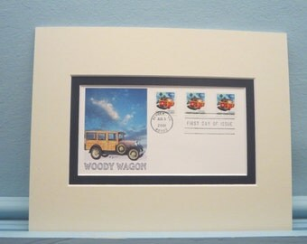The  Ford Auto - The Woody Wagon & First day Cover of its own stamp