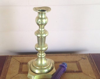 Victorian Solid Brass Candle Stick  Desk Lamp  Home Decor  Collectible