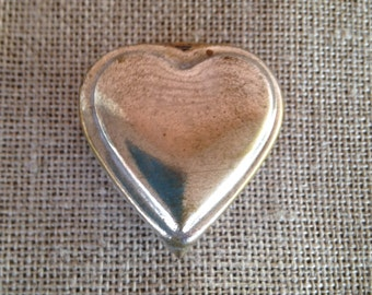 Heart-shaped Pill Box - Sliver Plated Lozenge Box