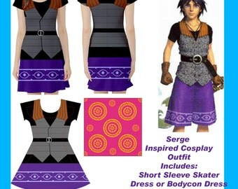 Serge Chrono Cross Cosplay Outfit Set