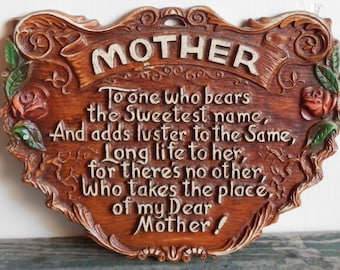 Vintage Mother's Day Plaque!