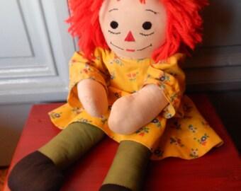 Vintage Handmade Raggedy Ann Doll!